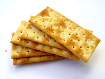 Biscuits. Against white background royalty free stock photo