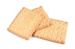 Biscuits. On white background royalty free stock photo