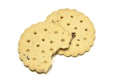 Biscuits. On an isolated background Royalty Free Stock Images