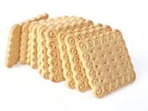 Biscuits. Some biscuits isolated on white Royalty Free Stock Photography