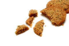 Biscuits. Are broken into pieces royalty free stock photography
