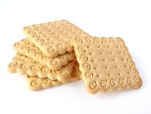 Biscuits. Some biscuits on white background Royalty Free Stock Image