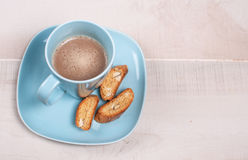 Biscuits with almond and cocoa Stock Photos