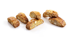 Biscuits with almonds Royalty Free Stock Images