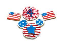 Biscuits américains de Jour de la Déclaration d'Indépendance Photographie stock