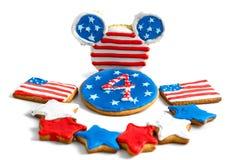 Biscuits américains de Jour de la Déclaration d'Indépendance Photo libre de droits