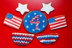 Biscuits américains de Jour de la Déclaration d'Indépendance Image stock