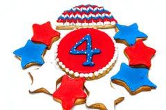 Biscuits américains de Jour de la Déclaration d'Indépendance Photo stock