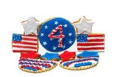 Biscuits américains de Jour de la Déclaration d'Indépendance Image libre de droits