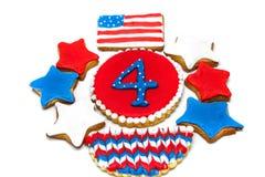 Biscuits américains de Jour de la Déclaration d'Indépendance Photos stock
