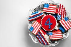 Biscuits américains de Jour de la Déclaration d'Indépendance Photos libres de droits
