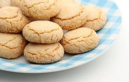 Biscuits amandés Photographie stock