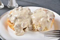 Free Biscuits And Gravy Stock Image - 143772181