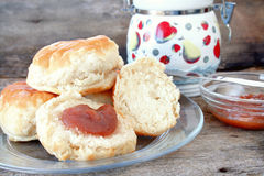 Biscuits and Apple Butter Stock Images