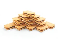 Biscuits arranged in the shape of a pyramid Stock Images