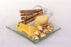Biscuits assortis Photos stock