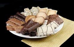 Biscuits assortis d'une plaque image libre de droits