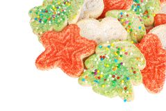 Biscuits assortis de Noël Photographie stock libre de droits