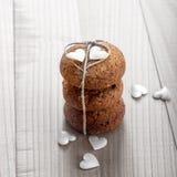 Biscuits avec amour Images libres de droits