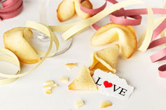 Biscuits avec amour Image stock