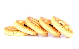 Biscuits avec Cherry Jam Photo stock