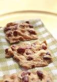 Biscuits avec des arachides Images libres de droits