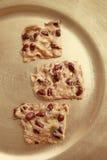 Biscuits avec des arachides Image stock