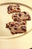 Biscuits avec des arachides Photographie stock