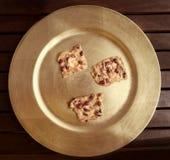Biscuits avec des arachides photos libres de droits