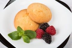 Biscuits avec des baies Photo libre de droits