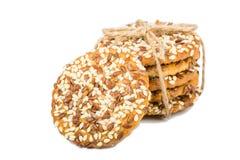 Biscuits avec des graines Images stock