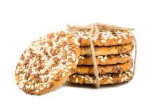 Biscuits avec des graines Photos libres de droits