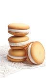 Biscuits avec des guimauves Photo libre de droits