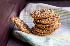 Biscuits avec des noix Photo libre de droits