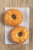 Biscuits avec des noix image stock