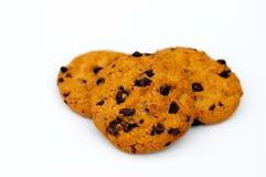 Biscuits avec des puces de chocolat Photos libres de droits