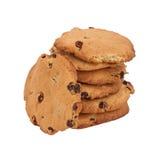 Biscuits avec des raisins secs Photo stock