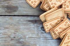 Biscuits avec du café Photos libres de droits