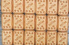 Biscuits avec du café Images libres de droits