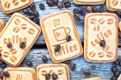 Biscuits avec du café Photographie stock