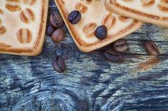 Biscuits avec du café Photos stock