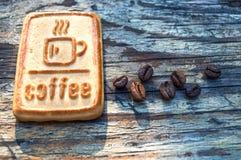 Biscuits avec du café Image libre de droits