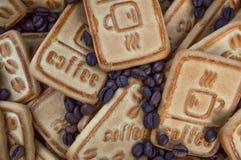 Biscuits avec du café Photo libre de droits