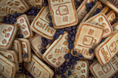 Biscuits avec du café Photographie stock libre de droits