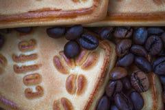 Biscuits avec du café Image stock