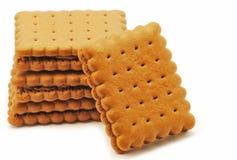 Biscuits avec du chocolat Photos stock