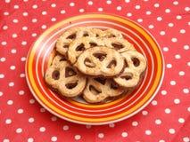 Biscuits avec du chocolat photo stock
