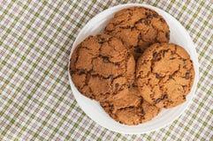 Biscuits avec du chocolat Americano Image libre de droits
