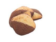 Biscuits avec du demi chocolat Photo stock