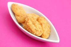 Biscuits avec du fromage Photo libre de droits